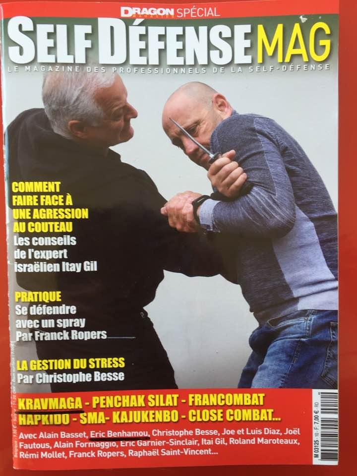 Passage dans le magazine Self défense Mag Abcc Nice Krav Maga