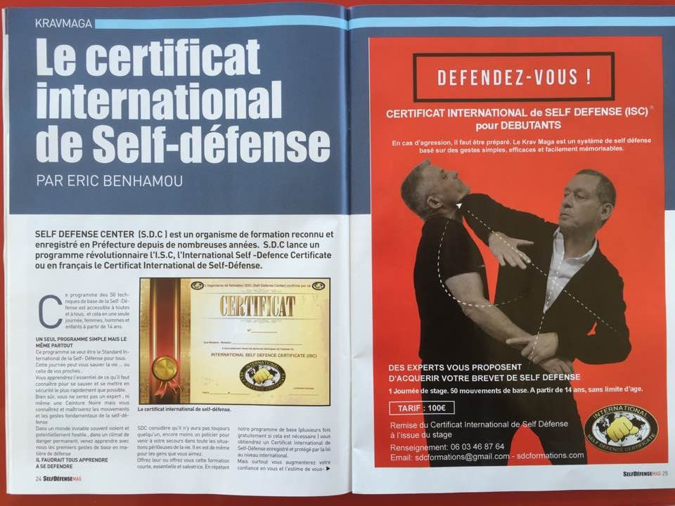 Club ABCC Nice Krav Maga certificat de self defense