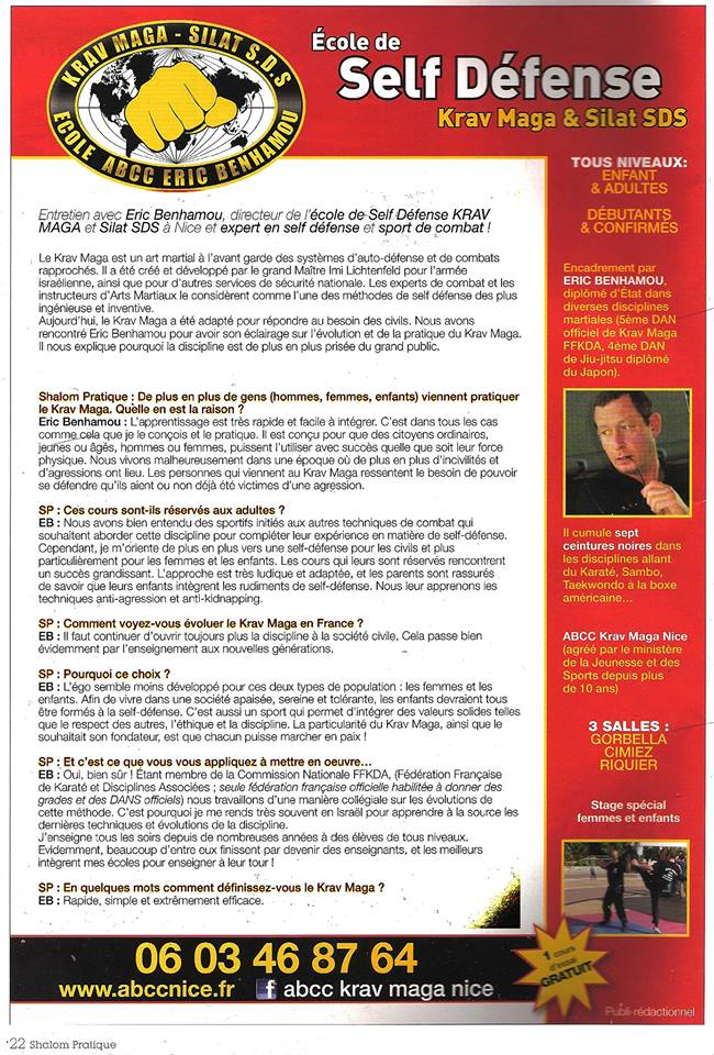 interview krav maga magazine