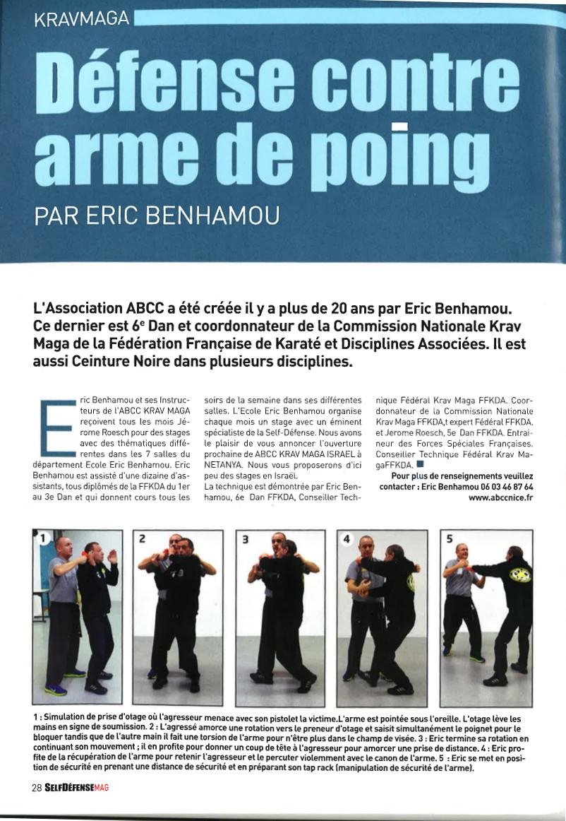 Nouveau stage Club ABCC Nice Krav Maga Eric benhamou