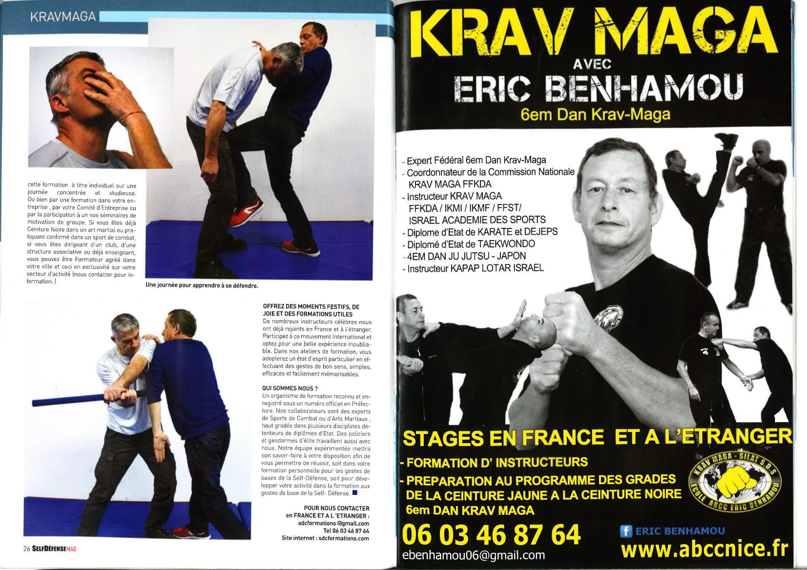 Stage ABCC Nice Krav Maga avec Eric benhamou