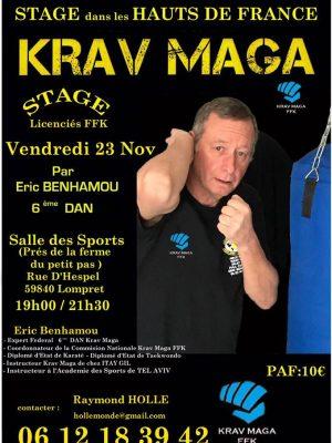 Eric benhamou date et heure ABCC Nice Krav Maga