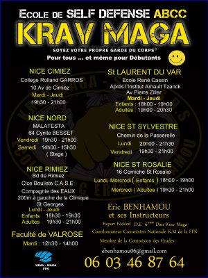 Salle Eric benhamou Club ABCC Nice Krav Maga